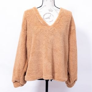 New Shein teddy soft oversized sweater, size L